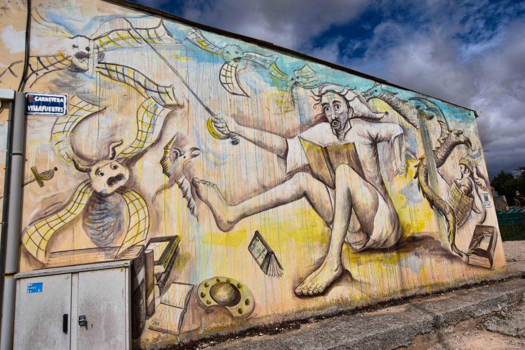 El insomnio de Don Quijote. Ruta de los murales de Villangómez