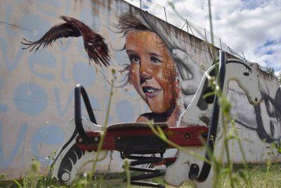 Ensoñaciones. Mural en Villangomez