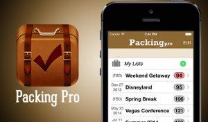Packing-Pro aplicaciones viajeras