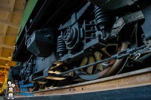Ruedas de una locomotora