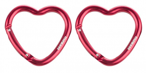 Llavero mosquetón con forma de corazón